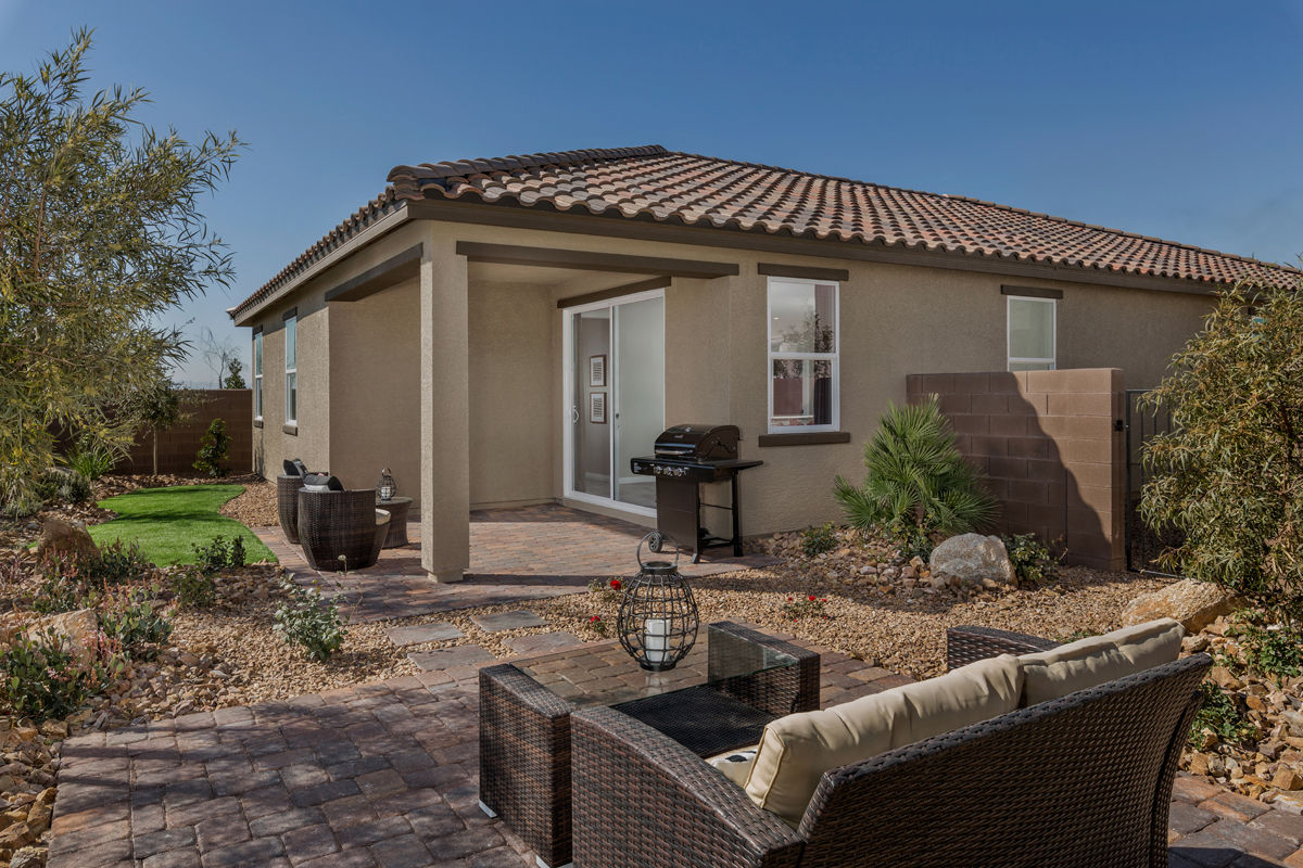 New Homes in North Las Vegas, NV - Reserves at Tanglewood Plan 1849 Backyard