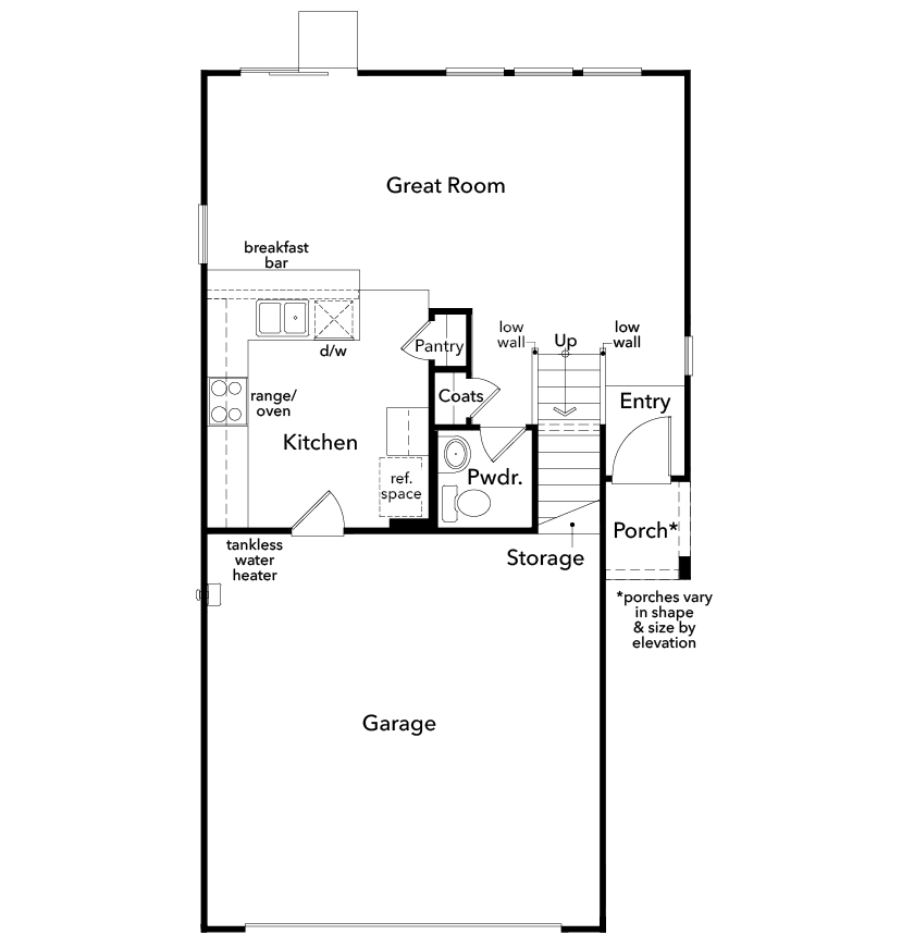 New Homes in North Las Vegas, NV - Plan 1455, First Floor