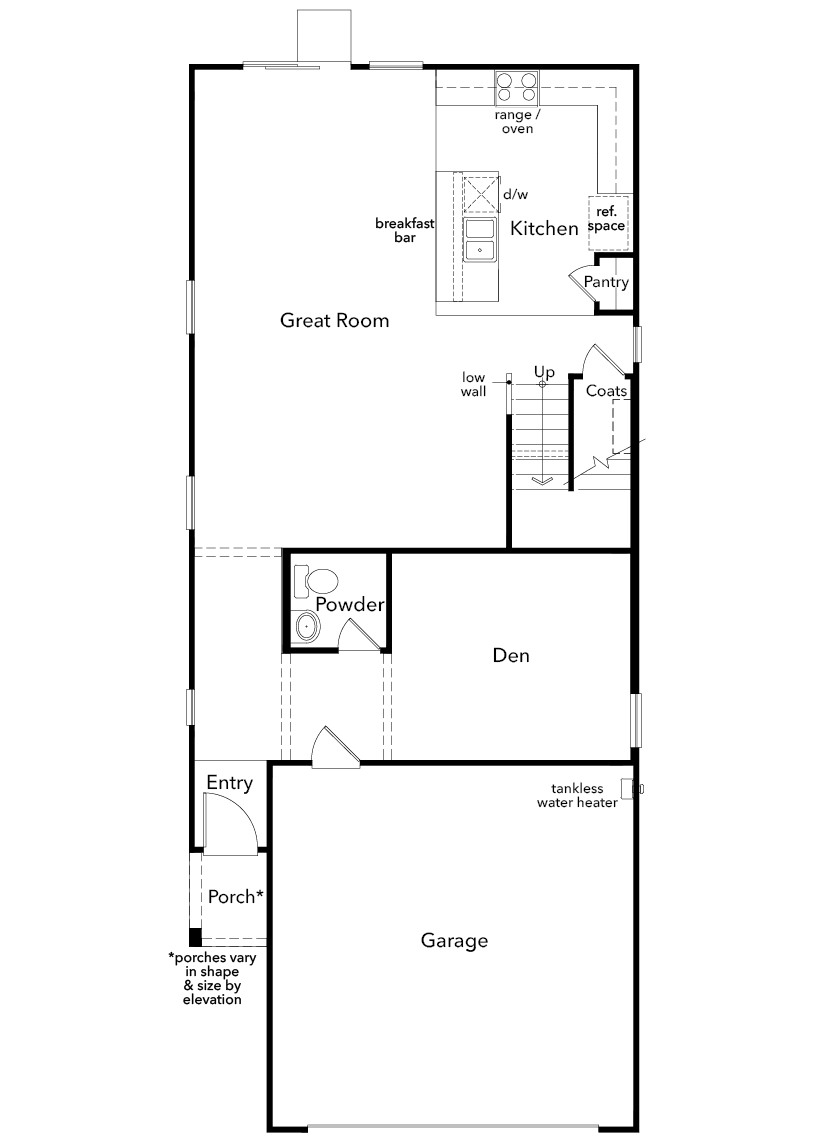 New Homes in North Las Vegas, NV - Plan 2114 Modeled, First Floor