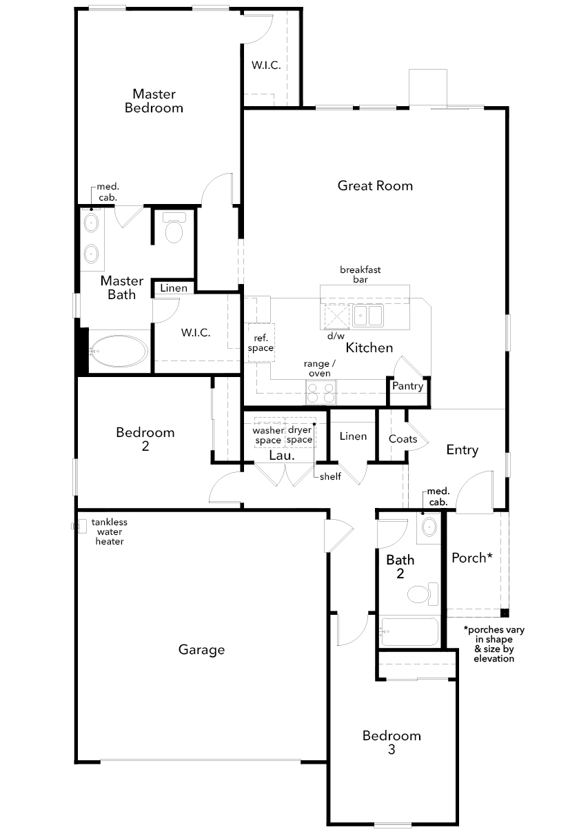 New Homes in North Las Vegas, NV - Plan 1550, First Floor