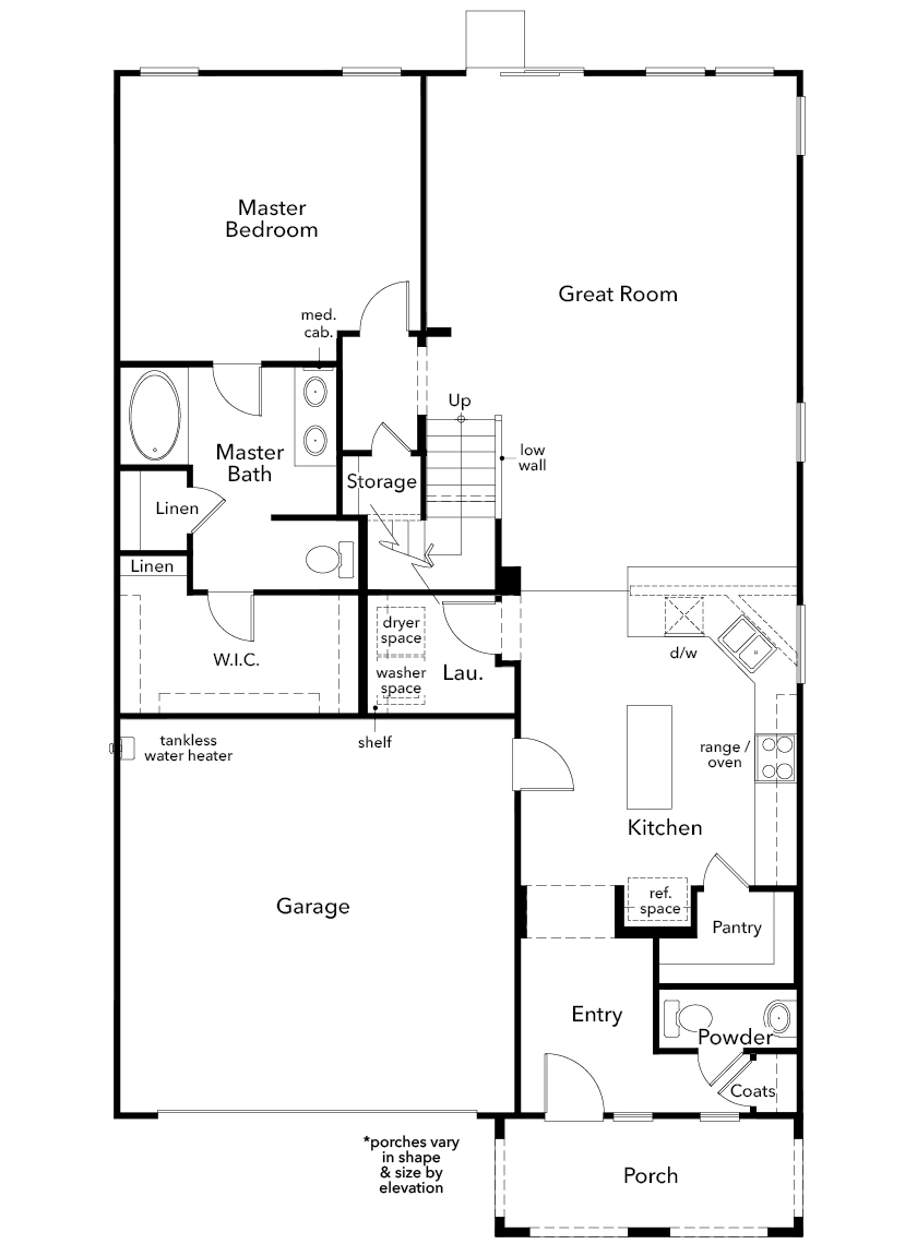 New Homes in North Las Vegas, NV - Plan 2993, First Floor