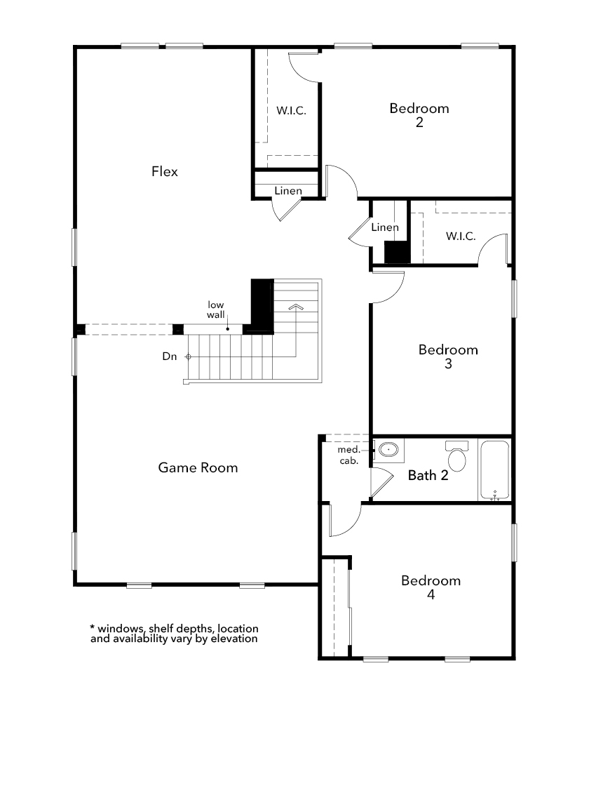 New Homes in North Las Vegas, NV - Plan 2993, Second Floor
