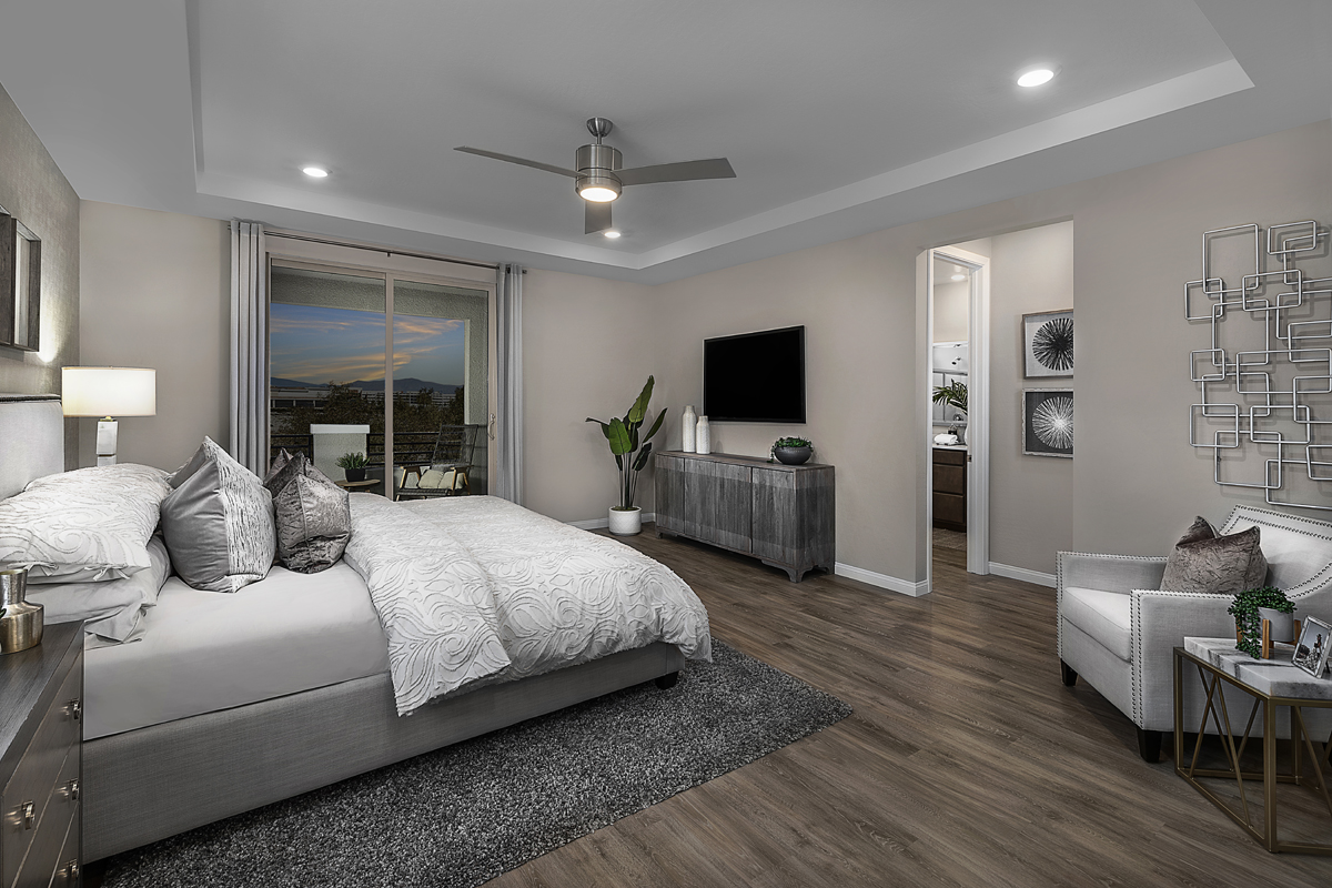 New Homes in Las Vegas, NV - Stonegate at Summerlin - Collection I Plan 2466 Master Bedroom