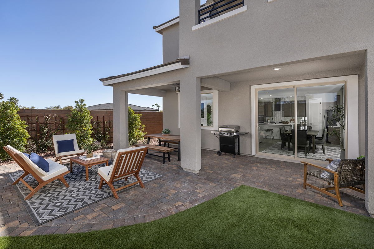 New Homes in Las Vegas, NV - Stonegate at Summerlin - Collection I Plan 2466 Backyard