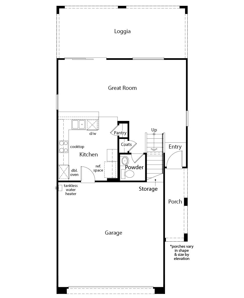 New Homes in Las Vegas, NV - Plan 1455, First Floor