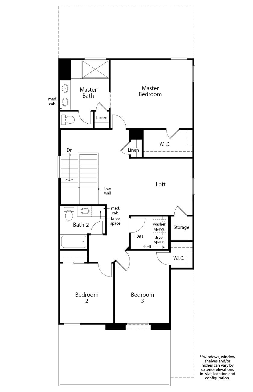 New Homes in Las Vegas, NV - Plan 2114, Second Floor