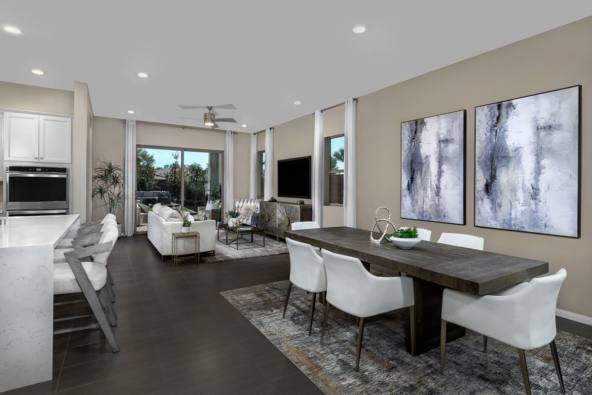 New Homes in Las Vegas, NV - Stonegate at Summerlin - Collection II Plan 1858-X Great Room