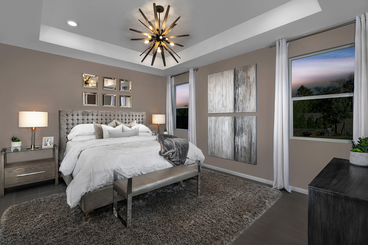 New Homes in Las Vegas, NV - Stonegate at Summerlin - Collection II Plan 1858-X Master Bedroom