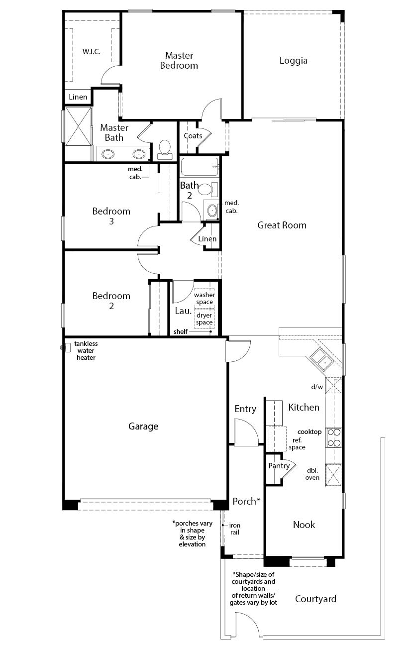 New Homes in Las Vegas, NV - Plan 1589, First Floor