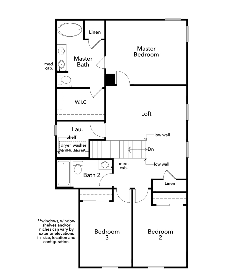 New Homes in Las Vegas, NV - Plan 1768, Second Floor