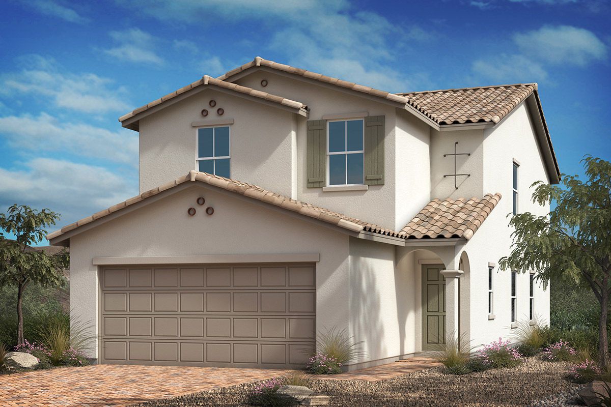 New Homes in Las Vegas, NV - Whistling Sands Plan 2124 Elevation A