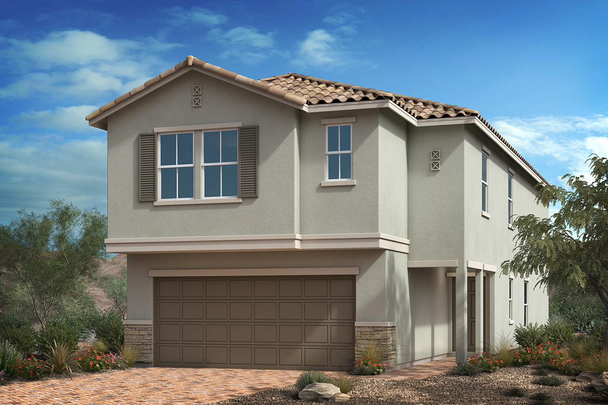 New Homes in Las Vegas, NV - Elevation B with masonry
