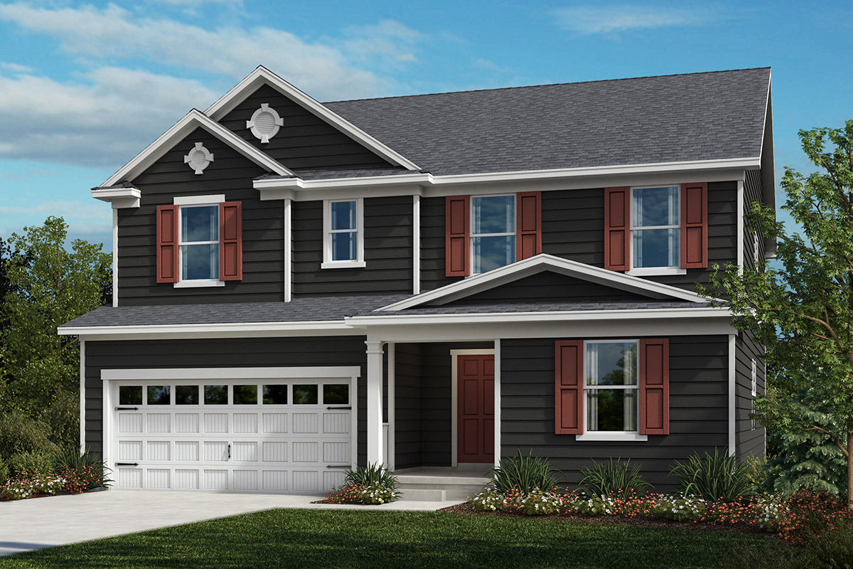 New Homes in Apex, NC - Elevation A