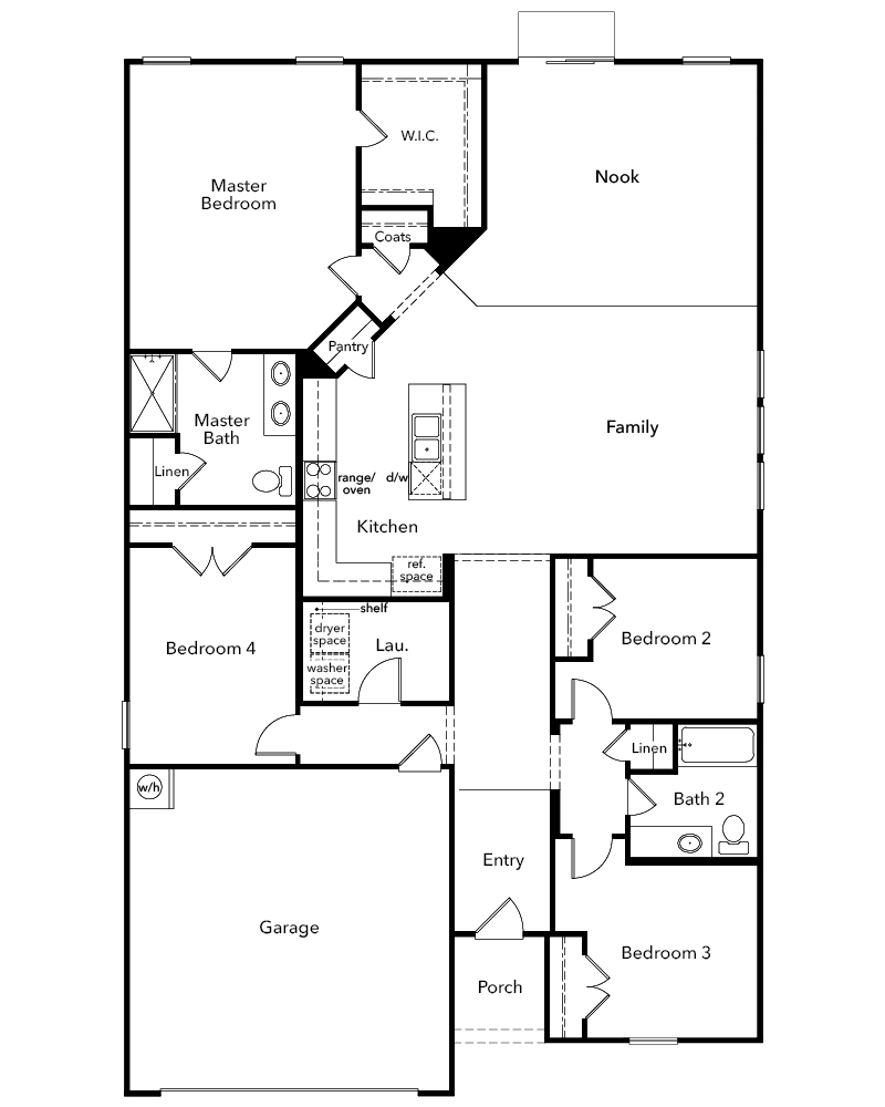 New Homes in Youngsville, NC - Plan 2074, First Floor