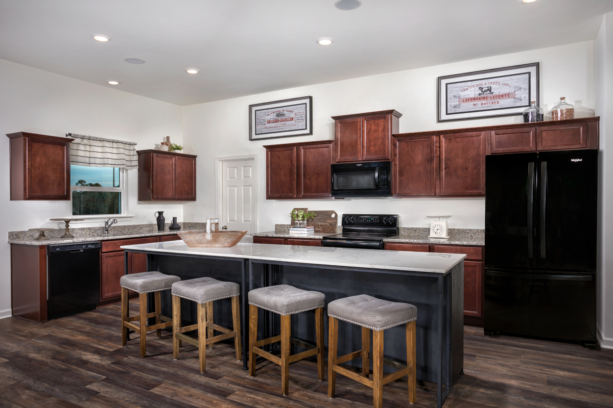 New Homes in Youngsville, NC - Freeman Farms Plan 1582 Kitchen