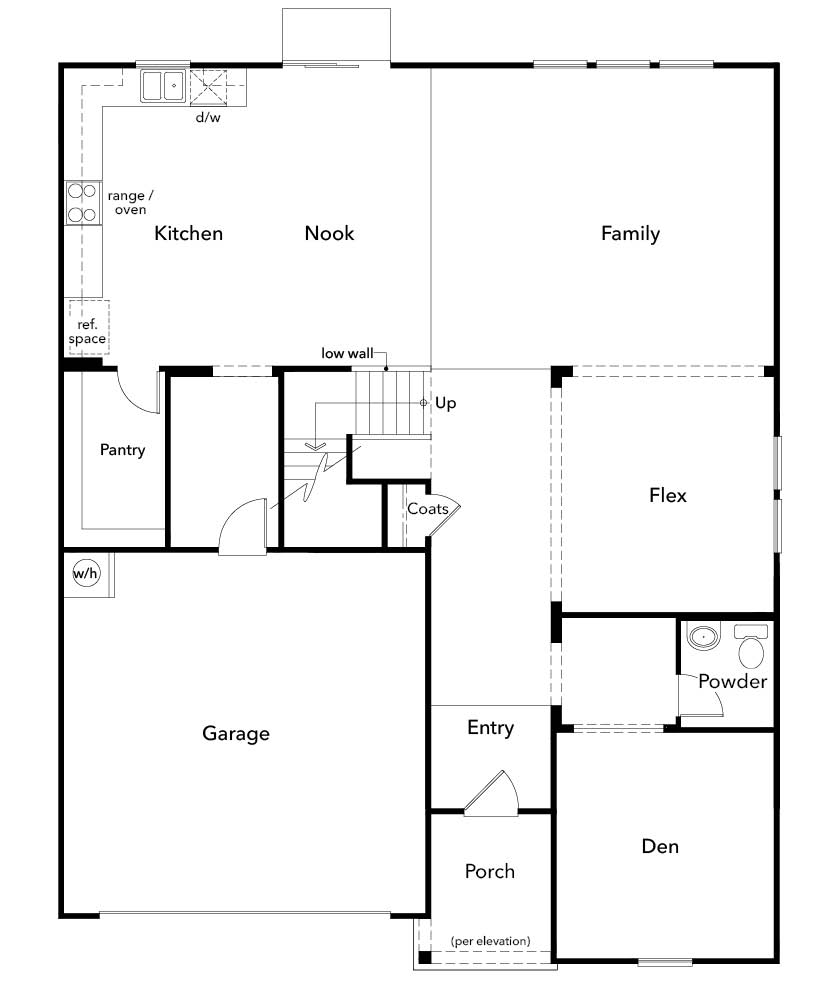 New Homes in Fuquay-Varina, NC - Plan 3174, First Floor