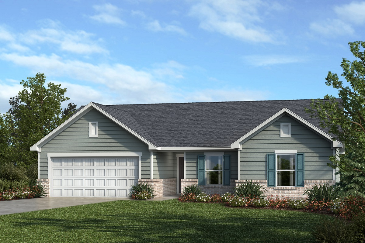 New Homes in Mebane, NC - The Retreat at Lake Michael Plan 1446 Elevation A