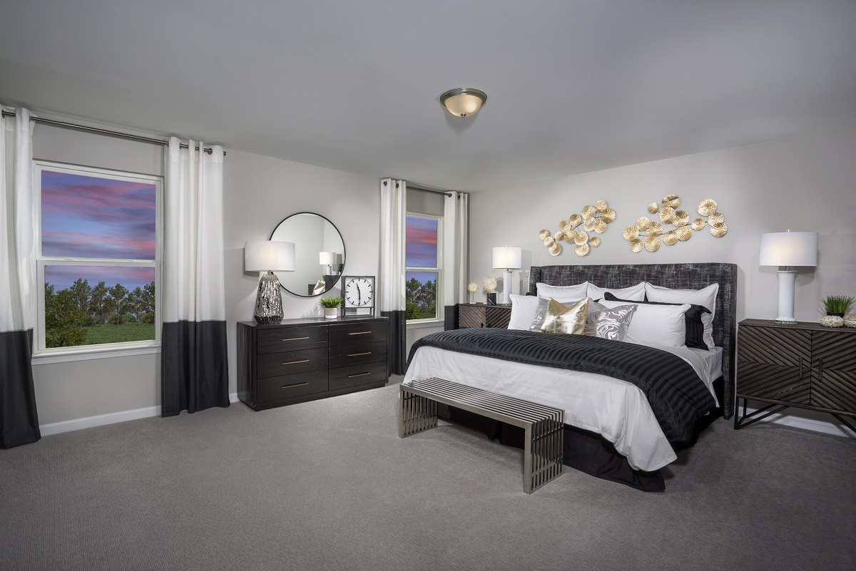 New Homes in Mebane, NC - The Retreat at Lake Michael The Coltrane II Master Bedroom