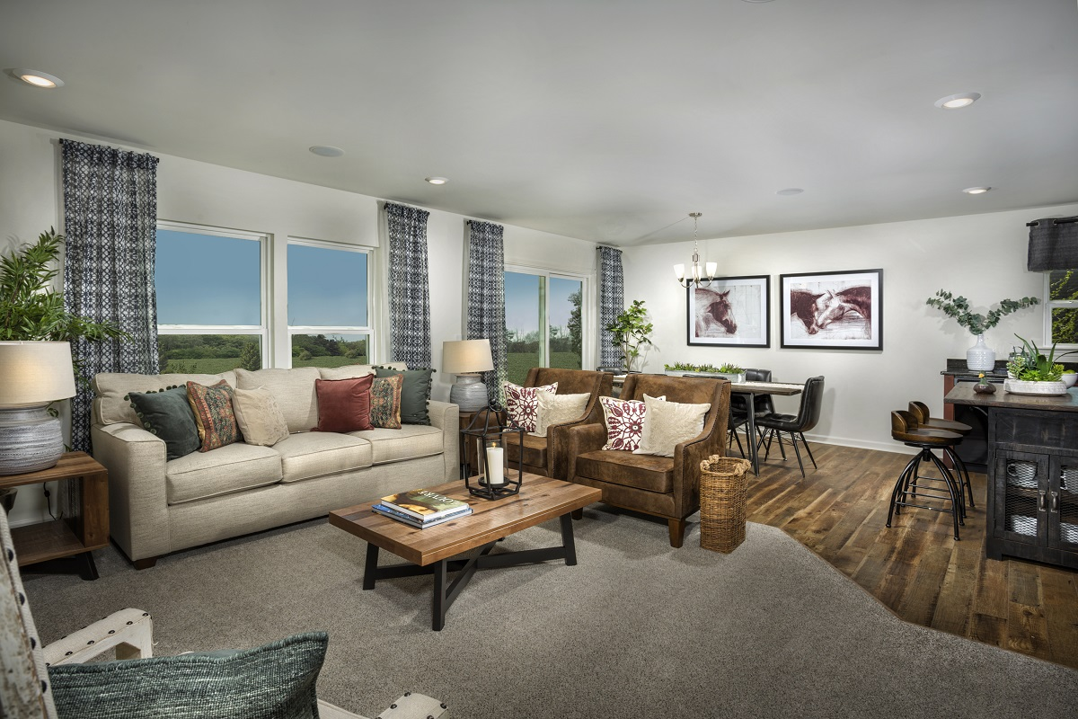 New Homes in Fuquay-Varina, NC - Mason Pointe The Daniels Great Room