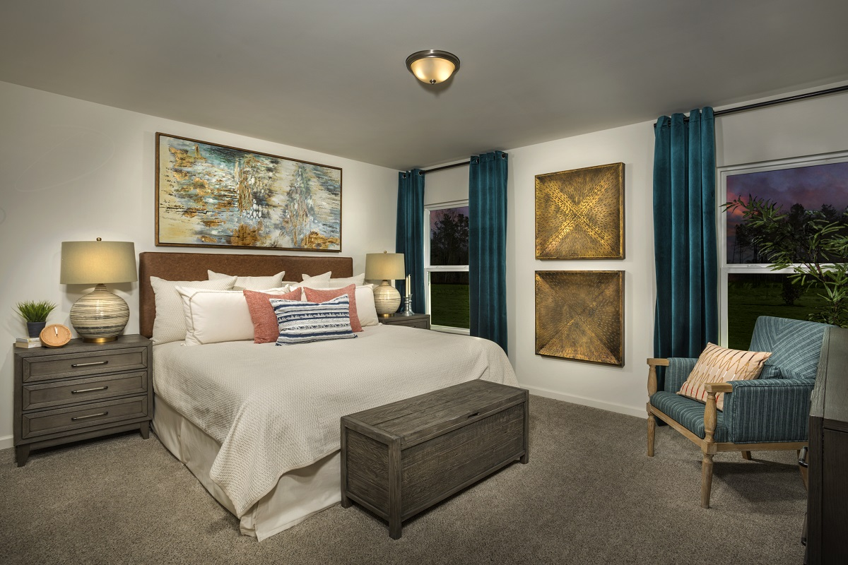 New Homes in Fuquay-Varina, NC - Mason Pointe The Daniels Master Bedroom