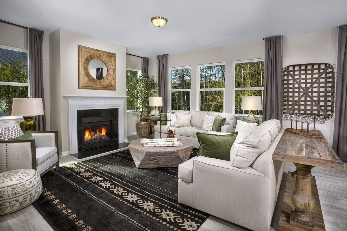 New Homes in Fuquay-Varina, NC - Partin Place The Coltrane II Living Room