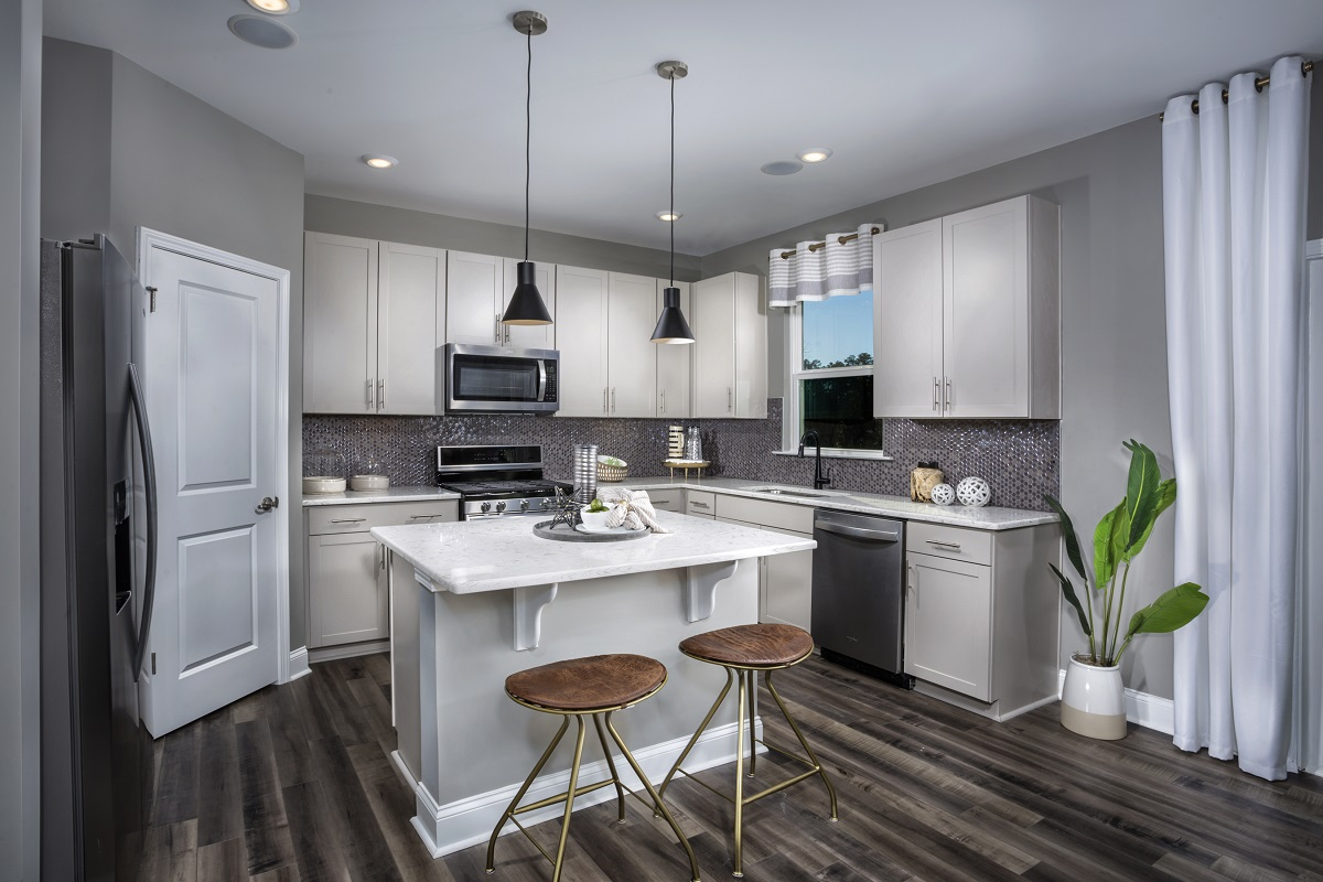 New Homes in Fuquay-Varina, NC - Union Station The Coltrane II Kitchen