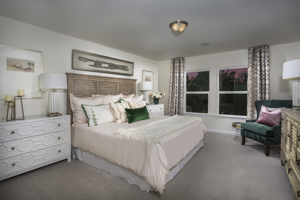 New Homes in Fuquay-Varina, NC - Union Station The Griffith II Master Bedroom