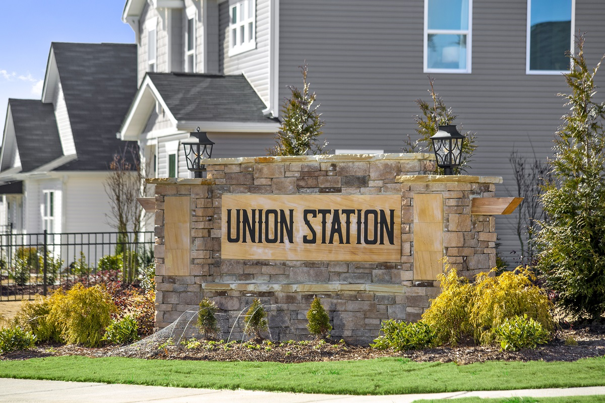 New Homes in Fuquay-Varina, NC - Union Station Union Station Entrance