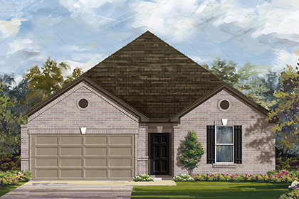 New Homes in Manor, TX - Plan A-2382 B