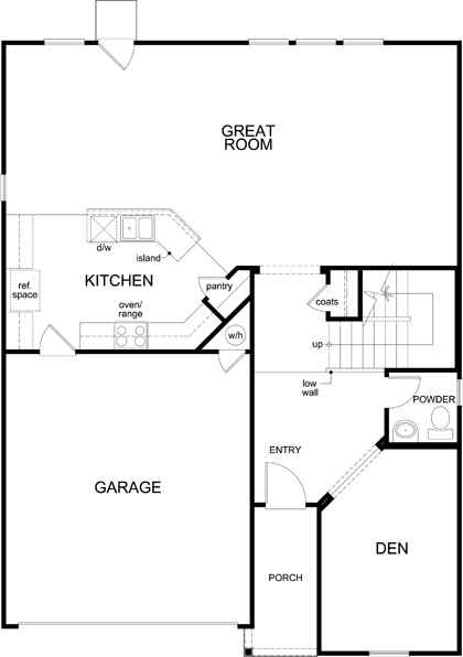 New Homes in Uhland, TX - Plan 2403, First Floor