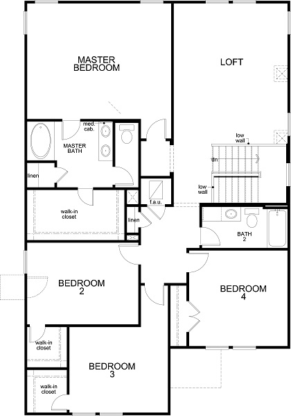 New Homes in Uhland, TX - Plan 2898, Second Floor