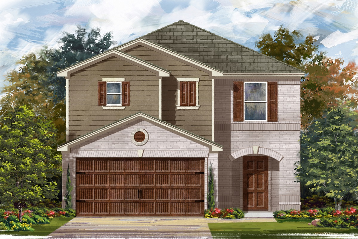 New Homes in Round Rock, TX - Greenlawn Village Plan 2038 Elevation I