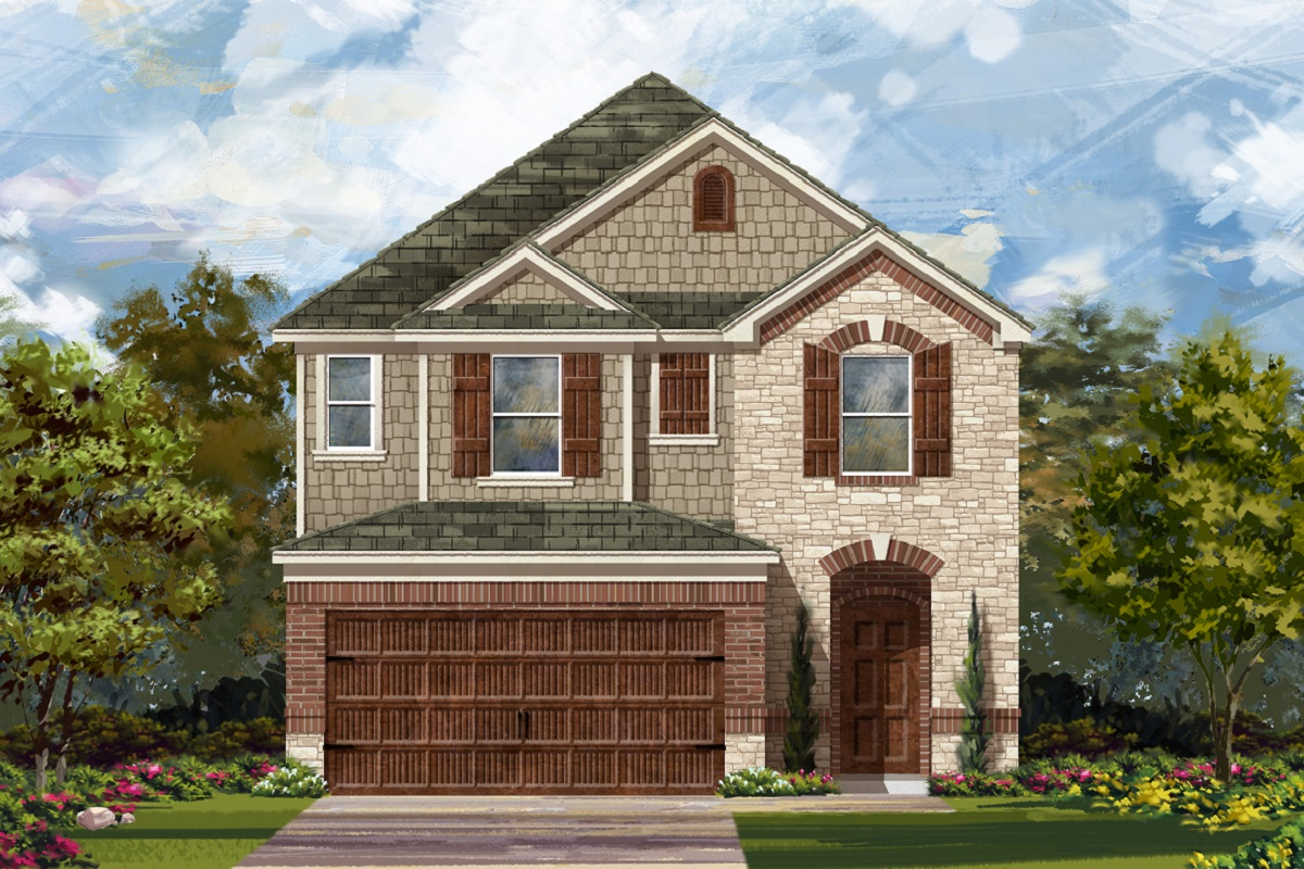 New Homes in Round Rock, TX - Greenlawn Village Plan 2038 Elevation K