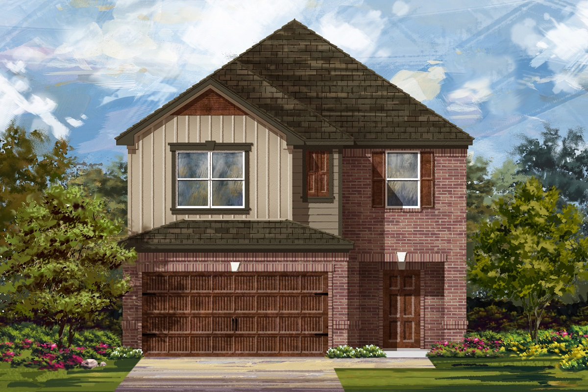 New Homes in Round Rock, TX - Greenlawn Village Plan 2038 Elevation L