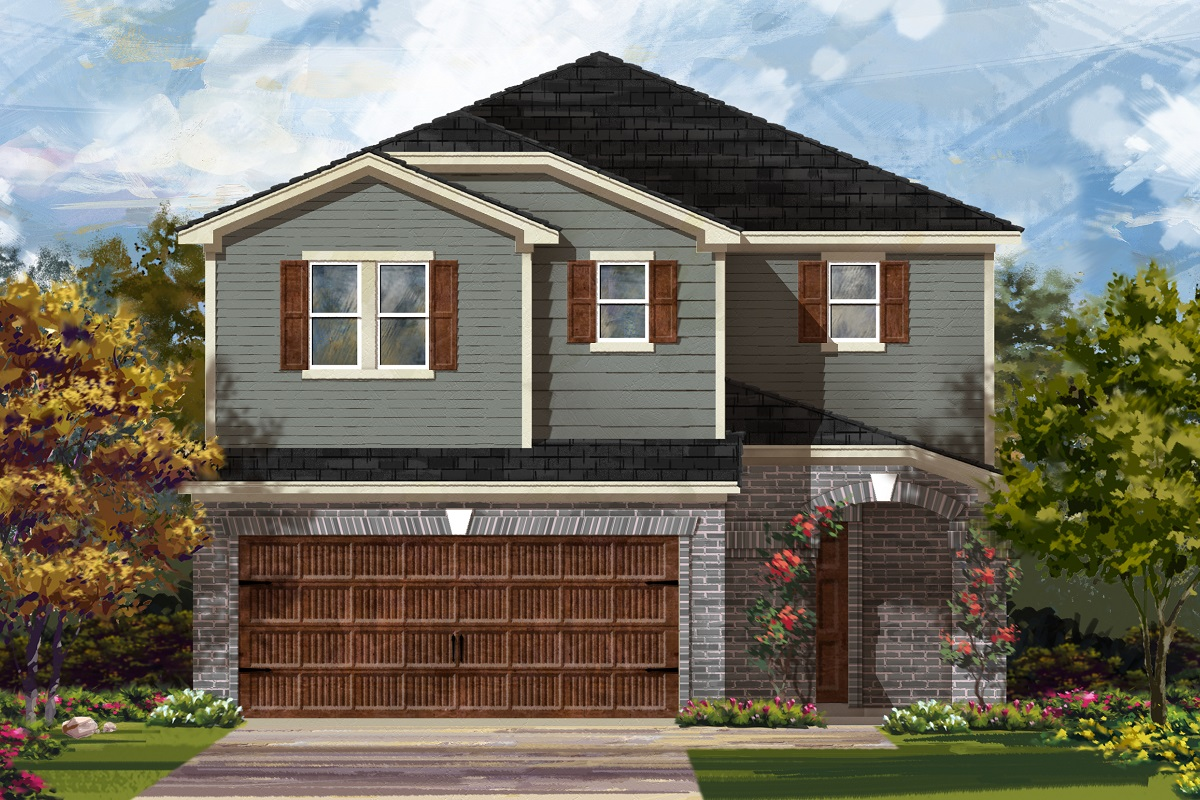 New Homes in Round Rock, TX - Greenlawn Village Plan 2708 Elevation I