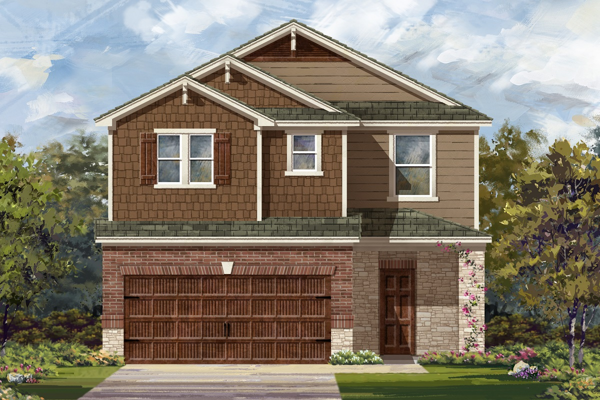 New Homes in Round Rock, TX - Greenlawn Village Plan 2708 Elevation K
