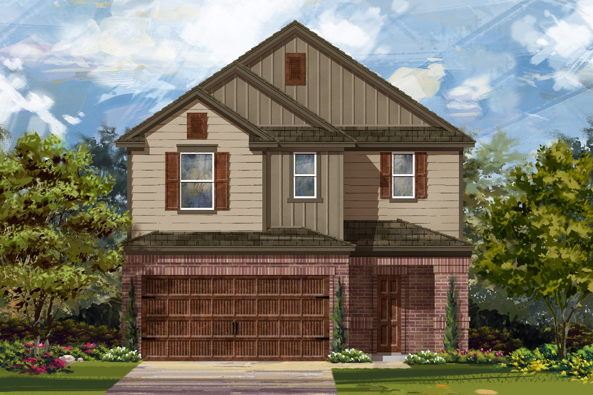 New Homes in Round Rock, TX - Greenlawn Village Plan 2708 Elevation L