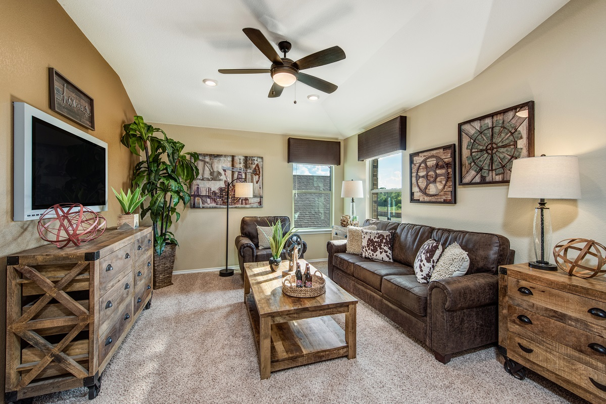New Homes in Round Rock, TX - Greenlawn Village Plan F-1909 Game Room