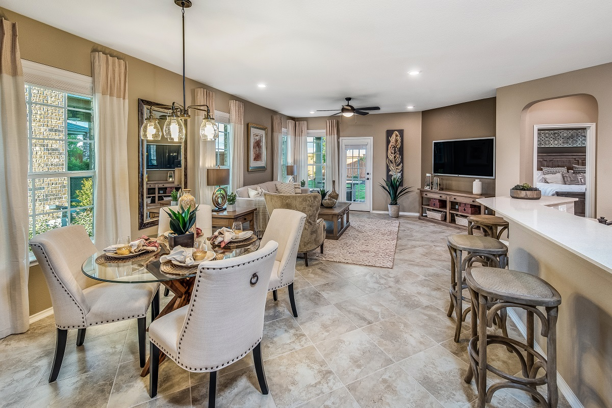 New Homes in Round Rock, TX - Greenlawn Village Plan E-1694 Great Room