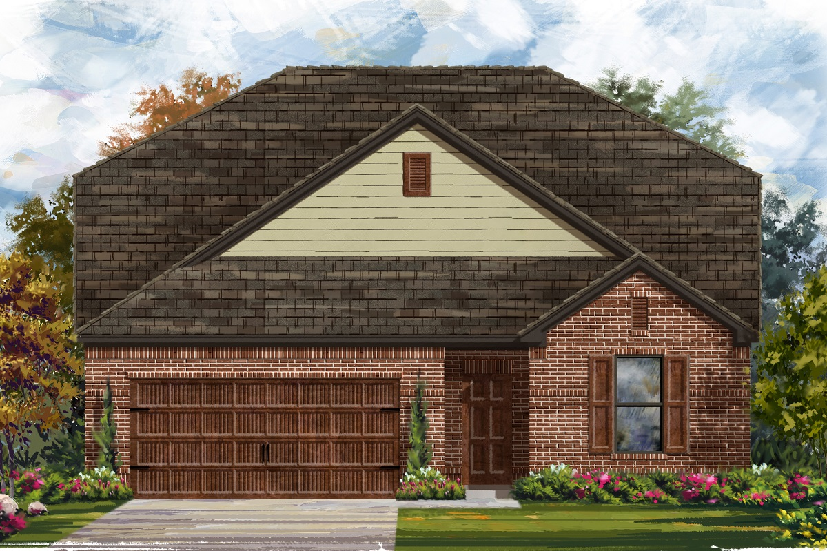 New Homes in Leander, TX - Haven Oaks Plan 2655 Elevation A