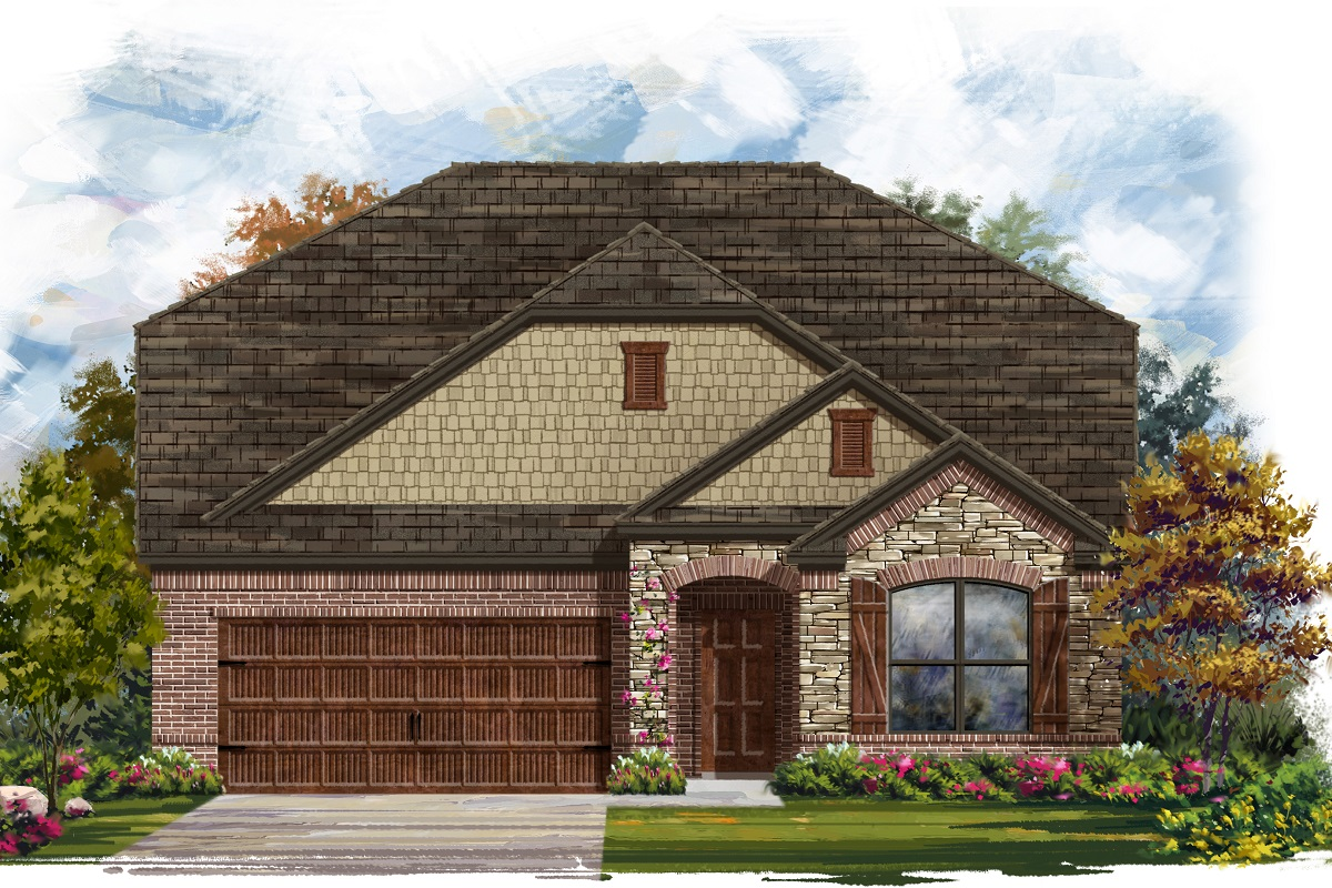 New Homes in Leander, TX - Haven Oaks Plan 2655 Elevation C