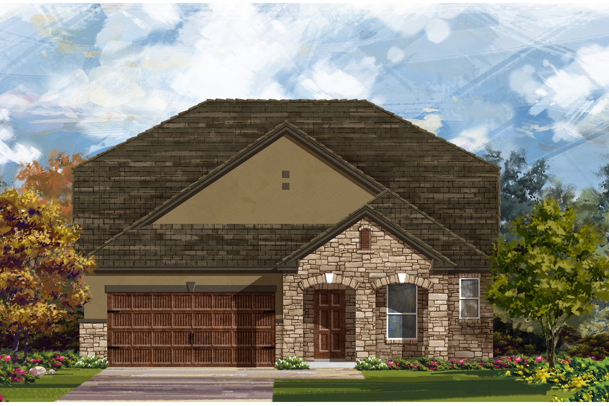 New Homes in Leander, TX - Haven Oaks Plan 2655 Elevation D