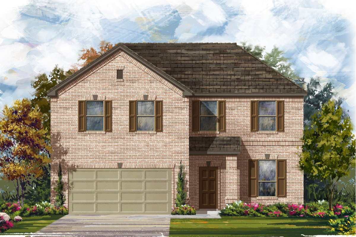 New Homes in Leander, TX - Haven Oaks Plan 2469 Elevation A