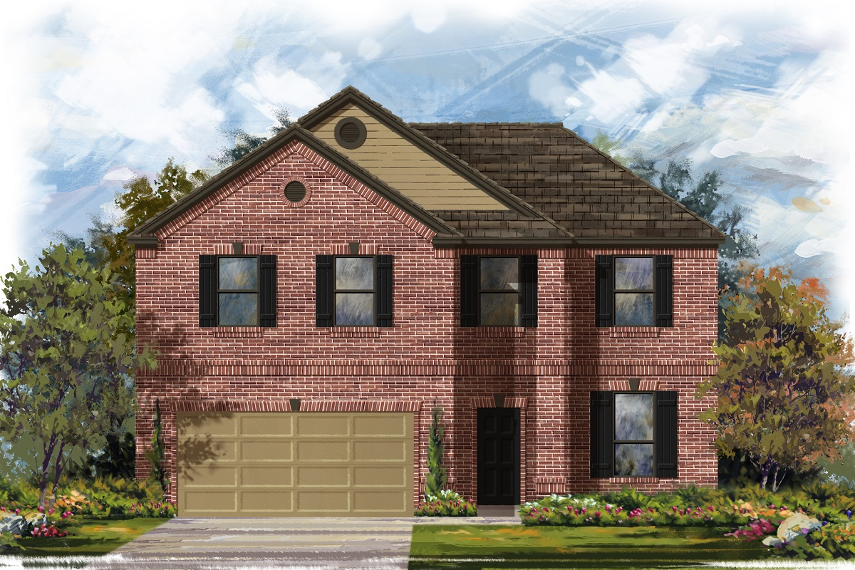 New Homes in Leander, TX - Haven Oaks Plan 2469 Elevation B