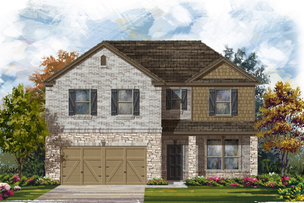 New Homes in Leander, TX - Haven Oaks Plan 2469 Elevation C