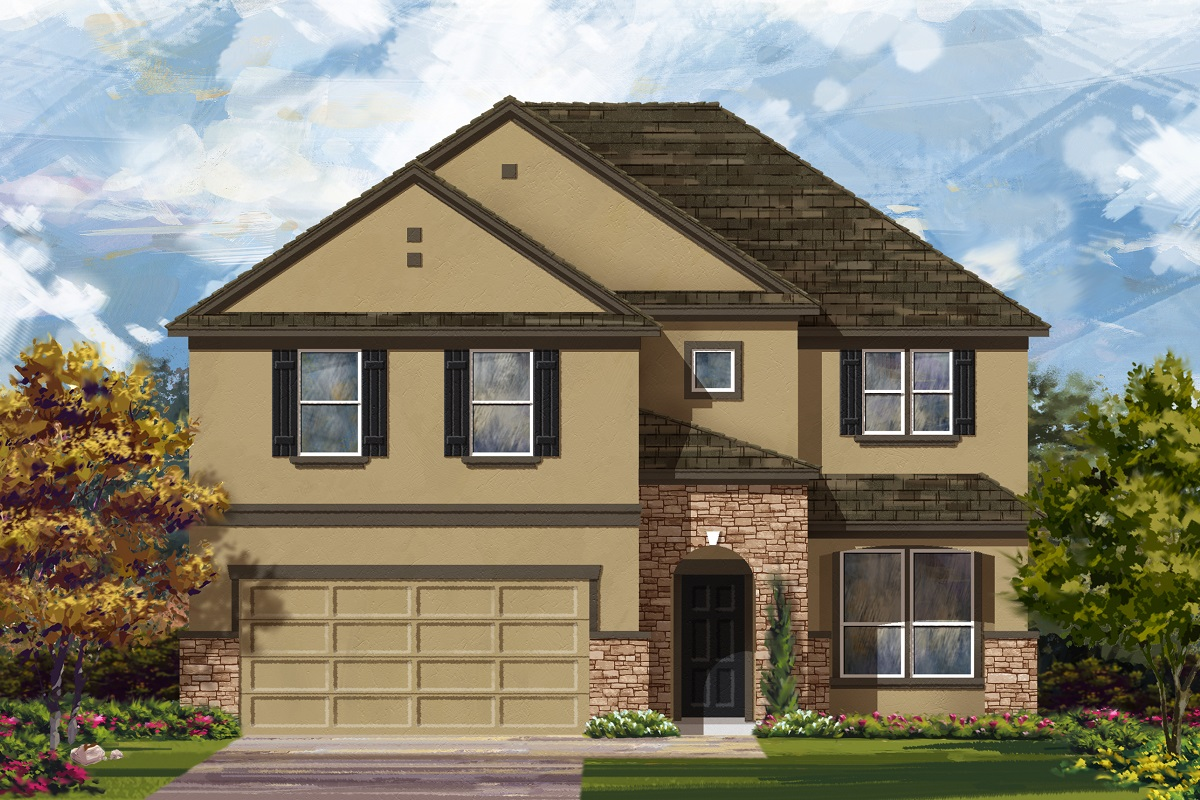 New Homes in Leander, TX - Haven Oaks Plan 2469 Elevation D