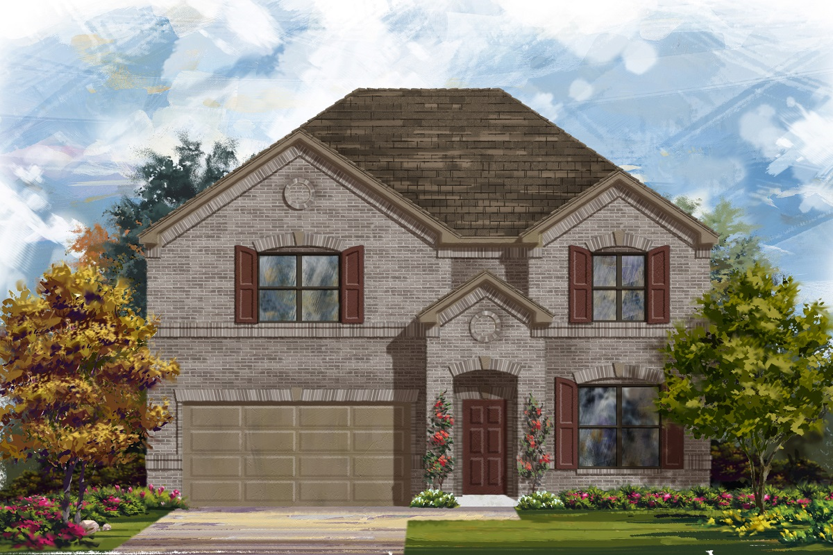 New Homes in Leander, TX - Haven Oaks Plan 2755 Elevation A