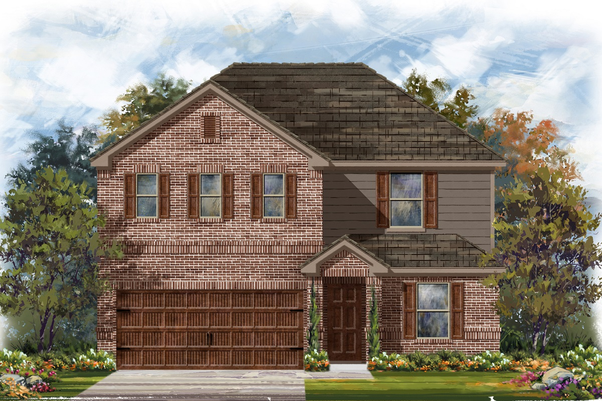 New Homes in Uhland, TX - Highlands at Grist Mill Plan 2403 Elevation H