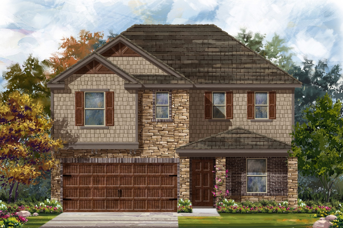 New Homes in Uhland, TX - Highlands at Grist Mill Plan 2403 Elevation J