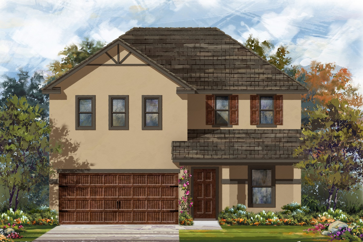 New Homes in Uhland, TX - Highlands at Grist Mill Plan 2403 Elevation K